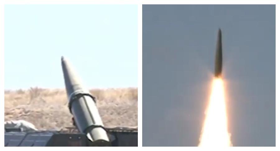 """Минобороны опубликовало видеозапись учебно-боевого пуска ракеты """"Искандер"""""""