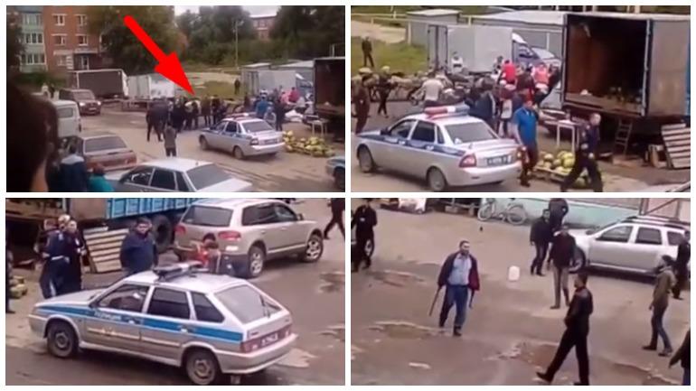 Торговцы арбузами устроили в Камешково массовую драку