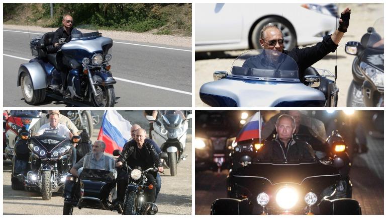 "Путин на мотоцикле ""Урал"" посетил байк-шоу в Севастополе"