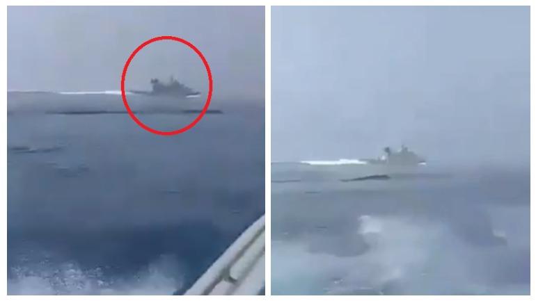 ИРанские военные опубликовали видео погони за кораблём Великобритании