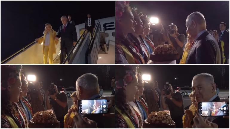 Жена премьер-министра Израиля бросила приветственный каравай на землю