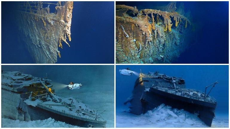 Дайверы обнаружили ужасающие повреждения на затопленном «Титанике»
