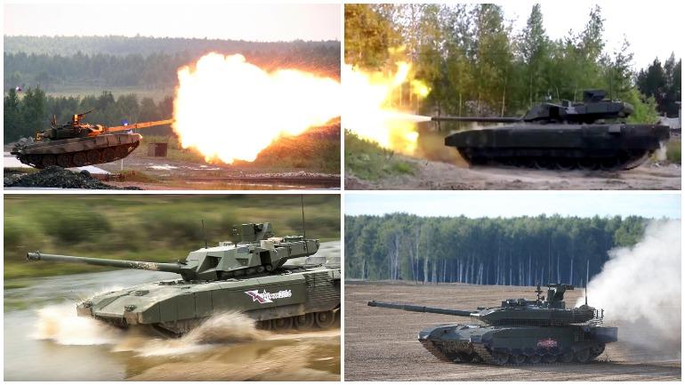 Американские военные прокатились на российских танках