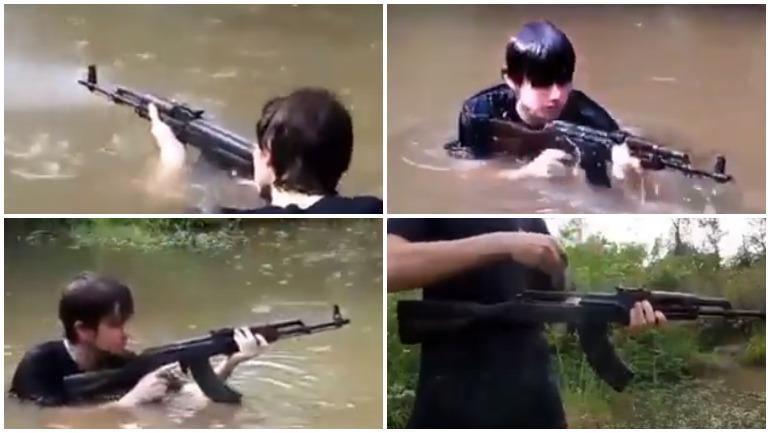 В Интернете размещено новое видео с жесткими испытаниями «Калашникова»