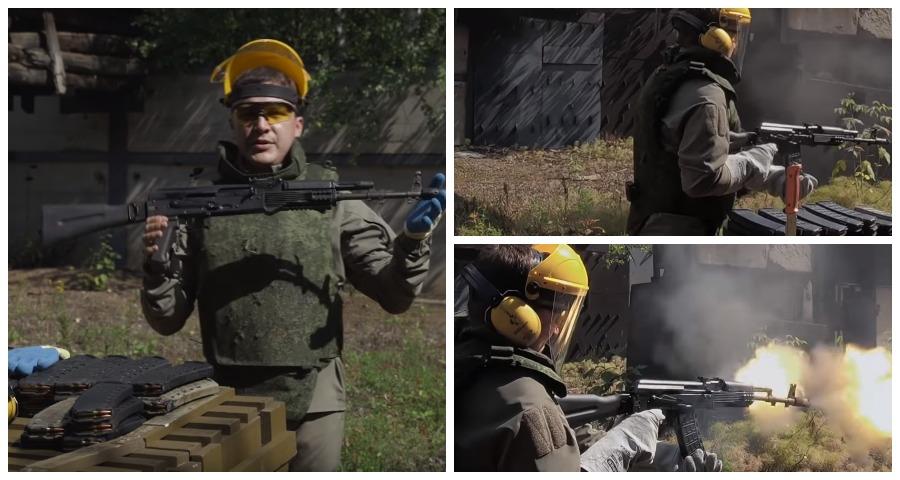 Эксперты записали видео с краш-тестом автомата АК-74М