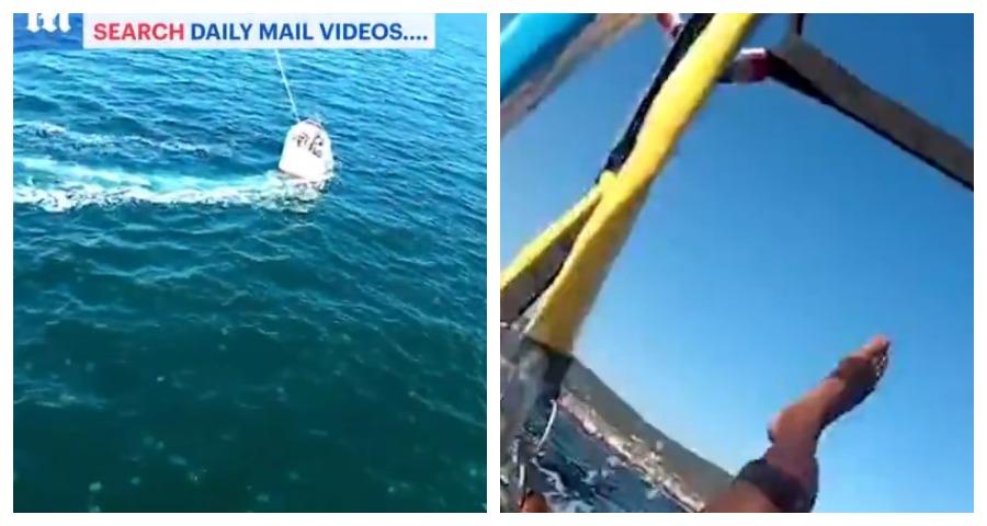 Парашютист во время падения снял на видео огромную стаю медуз