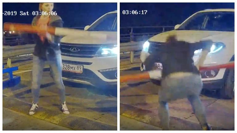 В Тюмени девушка сломала шлагбаум из-за нежелания платить за парковку