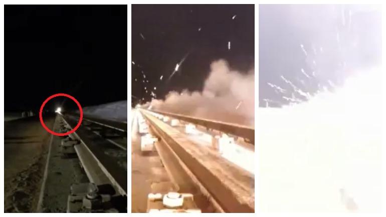 В США выложили видео с испытанием ракетных саней