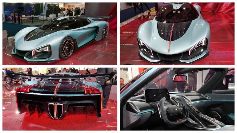 Китайцы показали во Франкфурте гибридного конкурента Bugatti Chiron