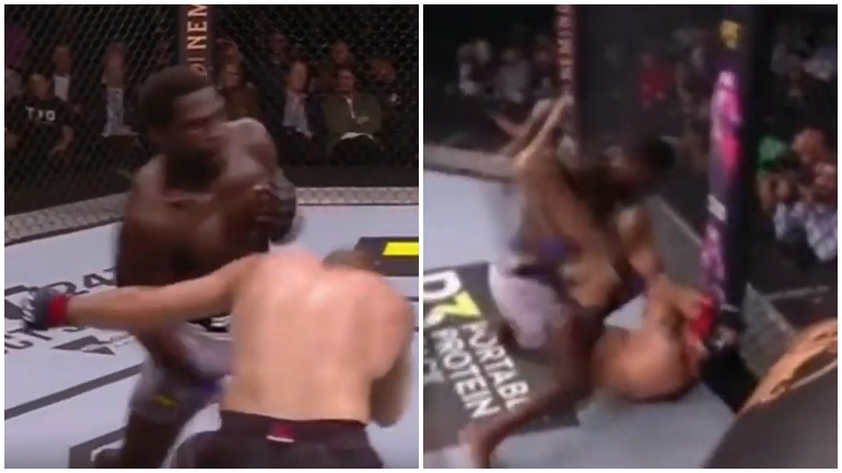 Главное противостояние UFC Fight Night 160 завершилось нокаутом во втором раунде