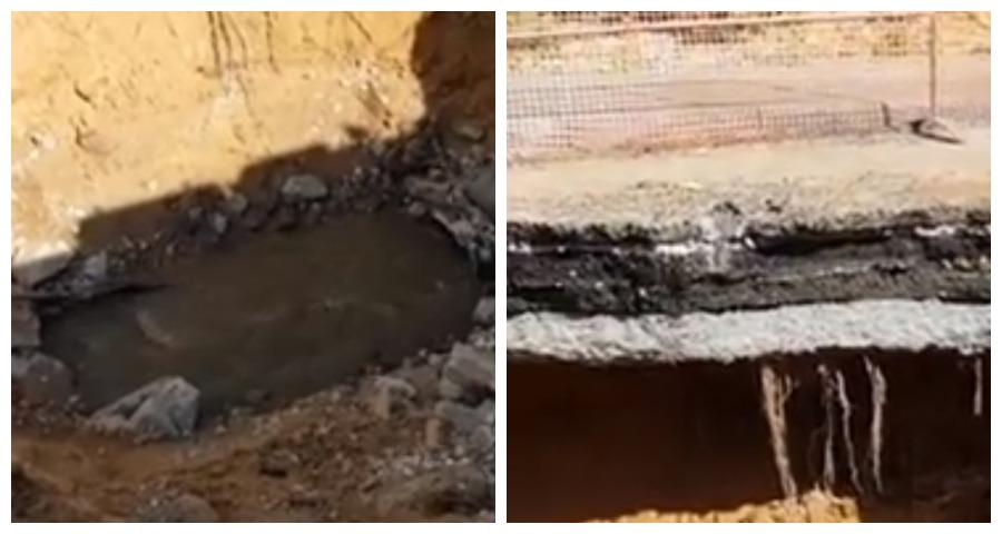 В интернете появилось видео с гигантской ямой в Казани