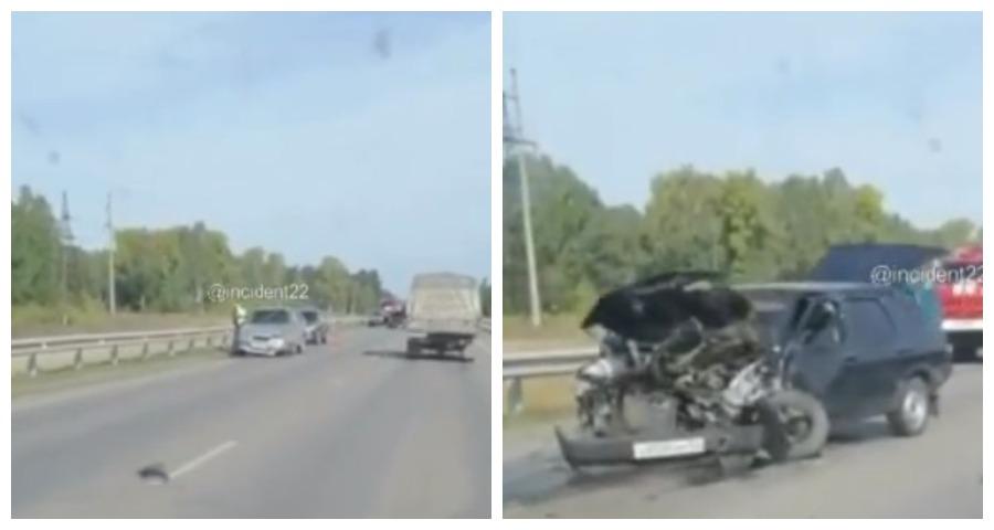 Опубликовано видео последствий жуткой аварии на алтайской трассе
