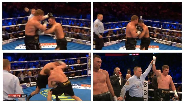 Поветкин победил Фьюри навечере бокса встолице Англии