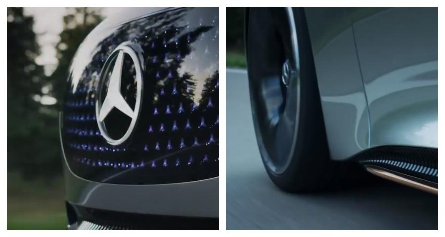 Mercedes-Benz выложил тизер своего электрокара EQS Vision