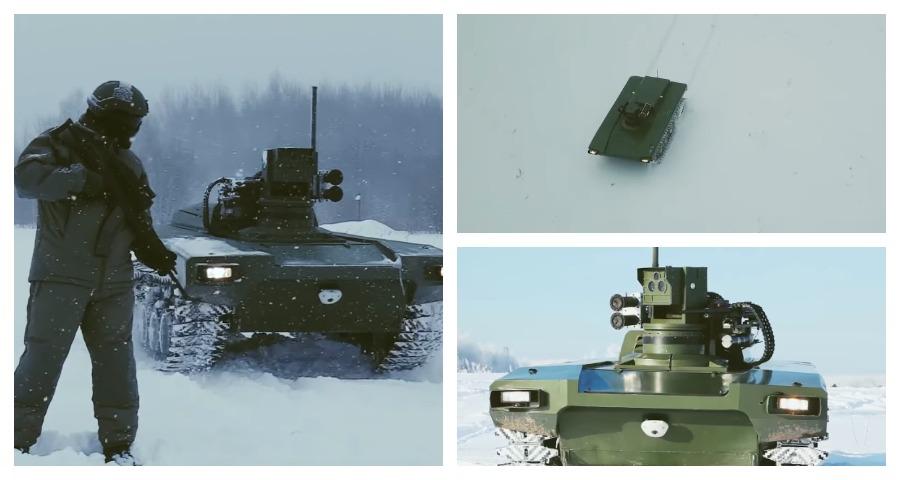В России впервые продемонстрировали экспериментального боевого робота «Маркер»