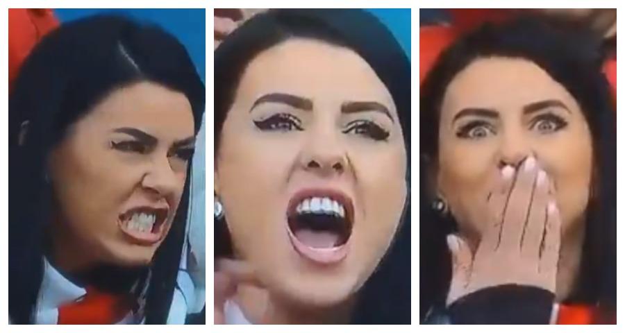 Эмоции жены румынского футболиста восхитили пользователей Сети