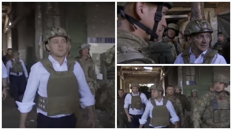 В сети высмеяли военную экипировку Зеленского при визите на Донбасс