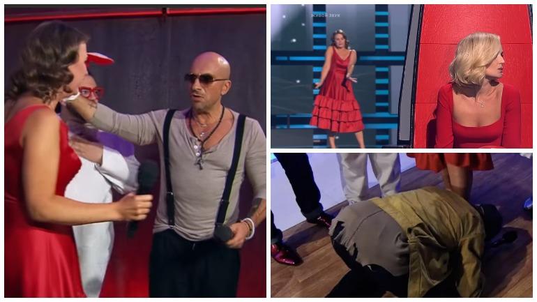 Дмитрий Нагиев встал на колени перед участницей «Голоса»