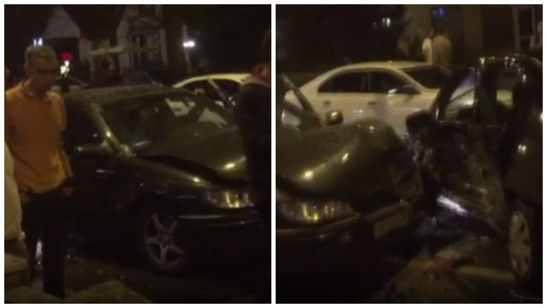 Ночью в Калининграде на Гвардейском проспекте столкнулись три автомобиля