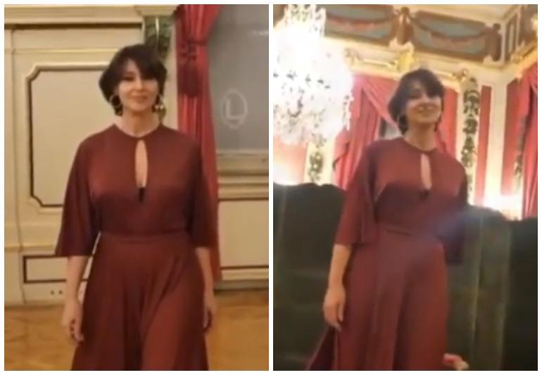 55-летняя Моника Белуччи блистала в элегантном платье на премии «Люмьер»