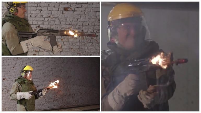 В Сети появлось видео испытаний автомата АК-12 безостановочной стрельбой