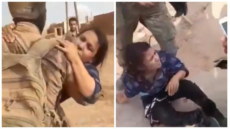 В Сети появились видео издевательств боевиков над курдскими ополченками