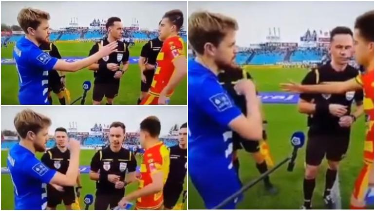 Украинский футболист отказался пожать руку поляку, который назвал его «бандеровцем»