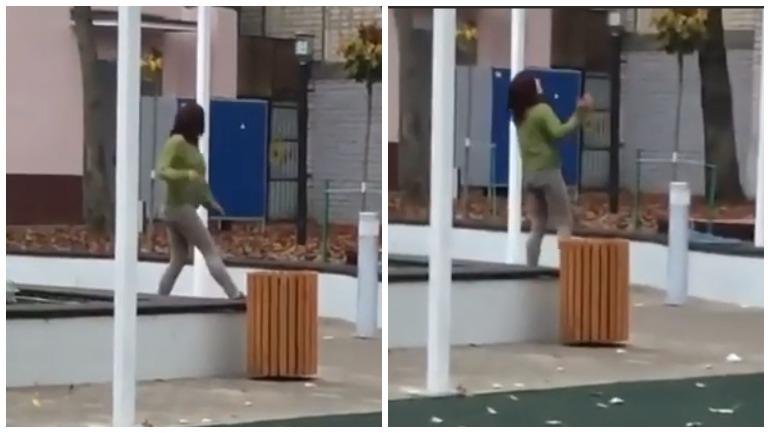 Девушка в лосинах станцевала с сквере Ставрополя и попала в интернет