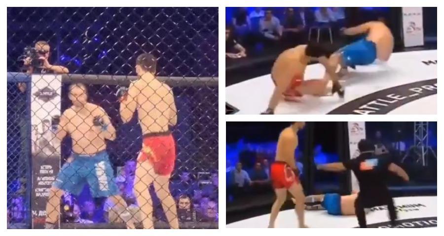 Российский боец MMA нокаутировал украинца ударом с ноги на 42 секунде поединка