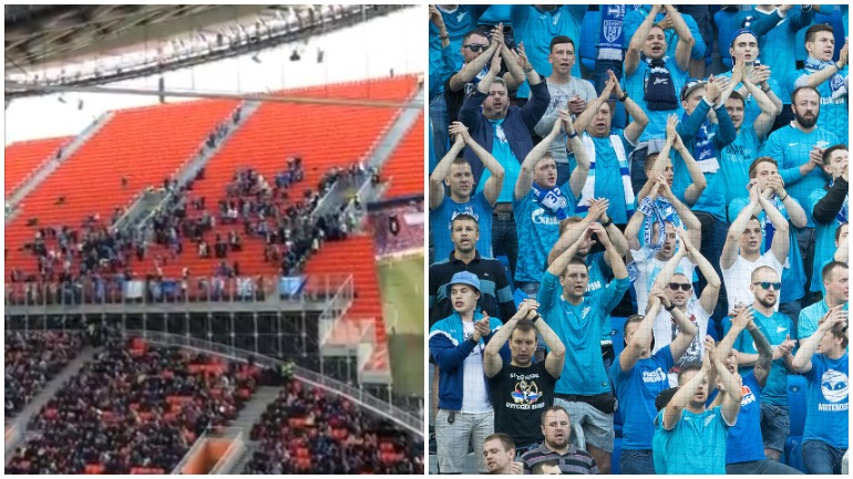Фанаты «Зенита» ушли с матча в знак протеста