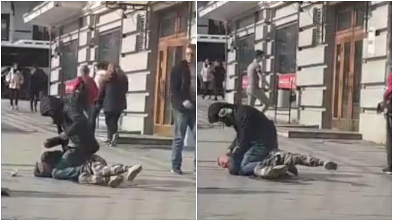 Жесткая драка во Владивостоке была снята на видео