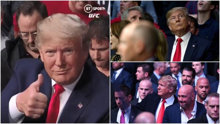Дональд Трамп посетил турнир UFC 244 в Нью-Йорке