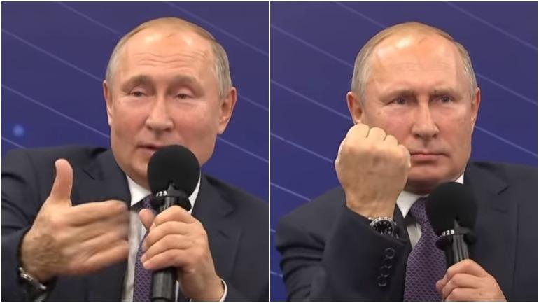 """Дмитрий Песков назвал показанный Путиным кулак """"чудесной рекомендацией"""""""