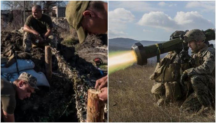 На границе с Донбассом Украина установила муляжи противотанковых комплексов Javelin