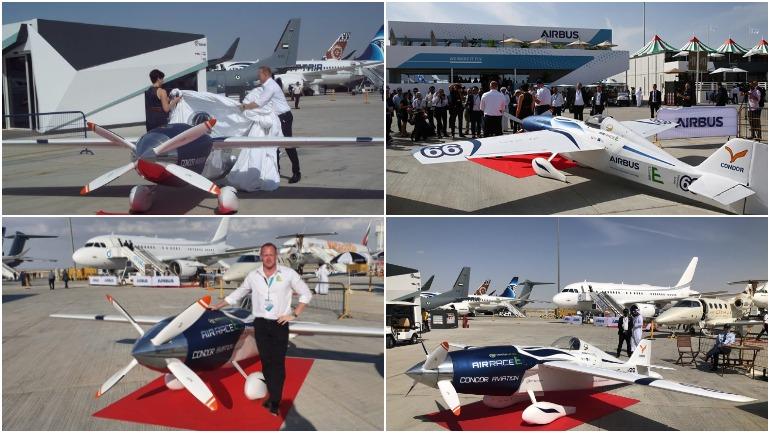 На авиасалоне в Дубае представлен первый электрический гоночный самолет