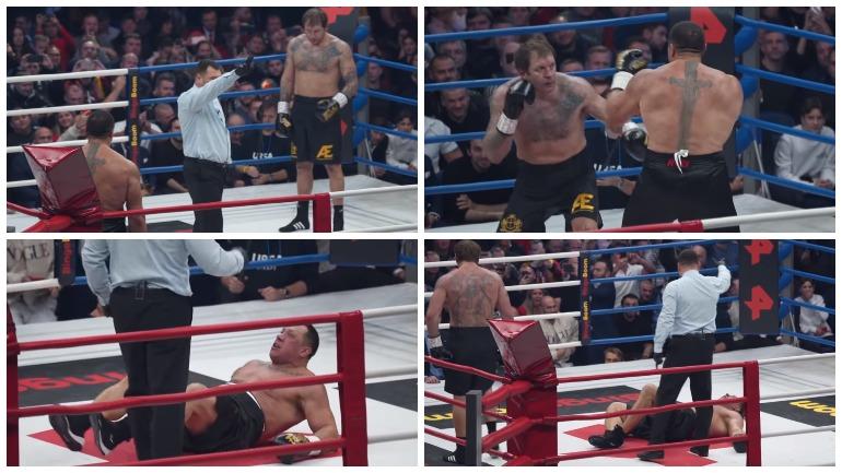 Видео: Емельяненко нокаутировал Кокляева в боксерском поединке