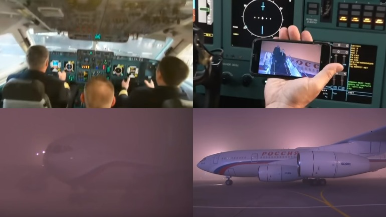 Самолёт Путина в Бишкеке сажали в густом тумане