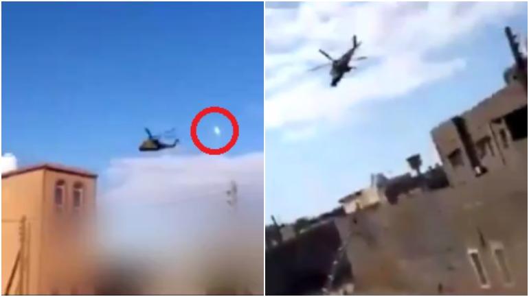 На видео сняли эпизод зачистки улицы в Триполи с помощью Ми-35 российского производства
