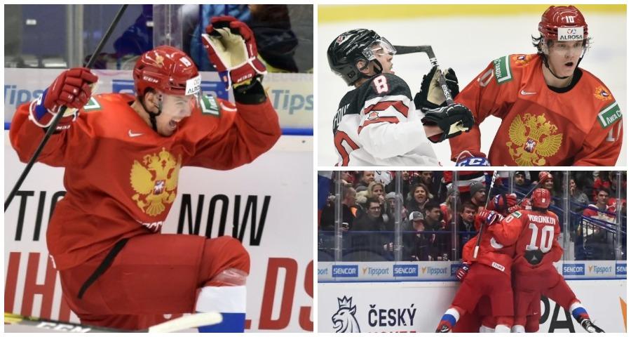 Российские хоккеисты обыграли канадских на молодежном чемпионате мира