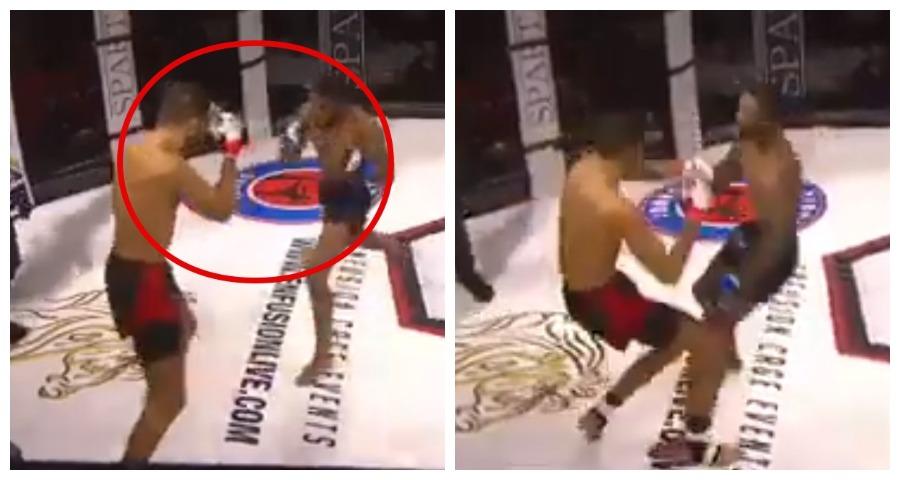 В одновременный нокдаун отправили друг друга бойцы MMA