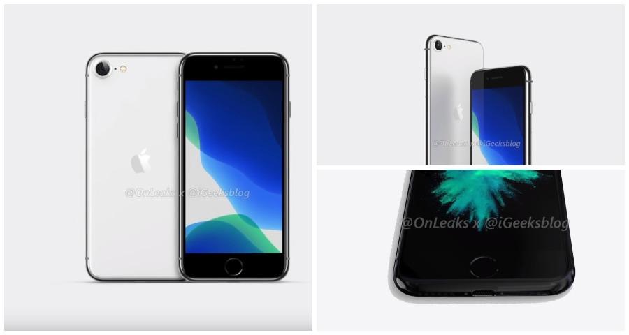В сеть утекли рендеры iPhone SE 2 от инсайдеров