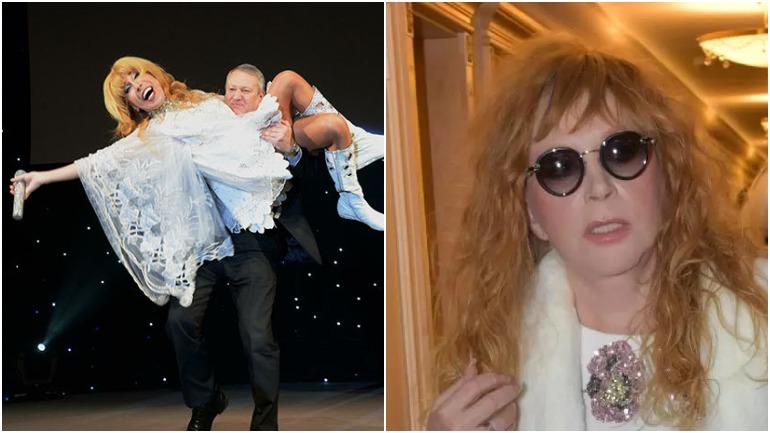 Пугачева ворвалась в гримерку Пескова после пародии на себя