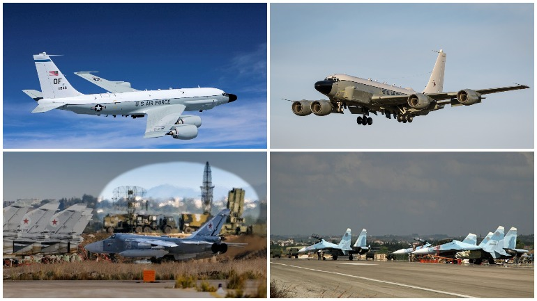 Американский самолет-разведчик не смог долететь до авиабазы России в Сирии