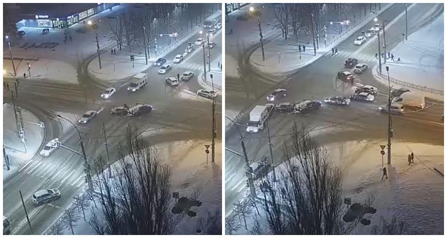 Водители в Липецке подрались после ДТП