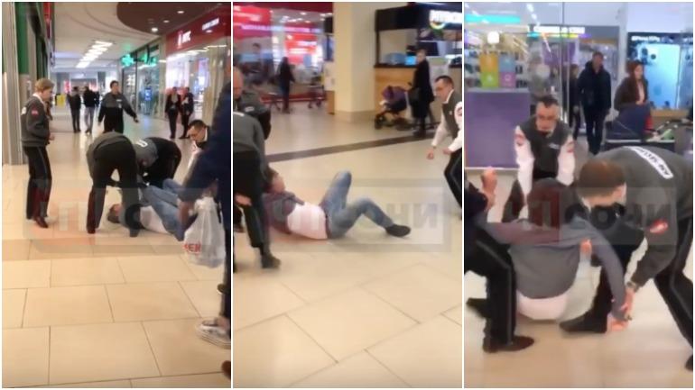 Охранники одного из супермаркетов Сочи жестко задержали посетителя