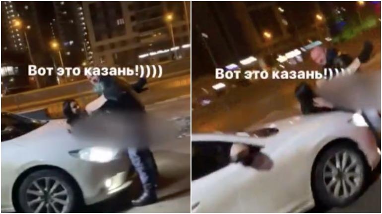 Пара в Казани занималась любовью на капоте машины