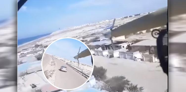На видео сняли полет «летающего танка» в Ливии