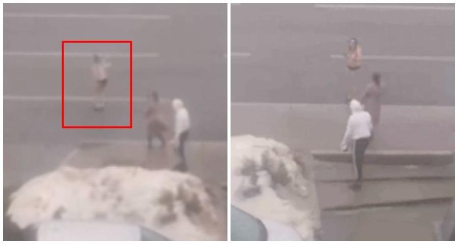 Полуголая девушка в Уфе пыталась поймать попутку