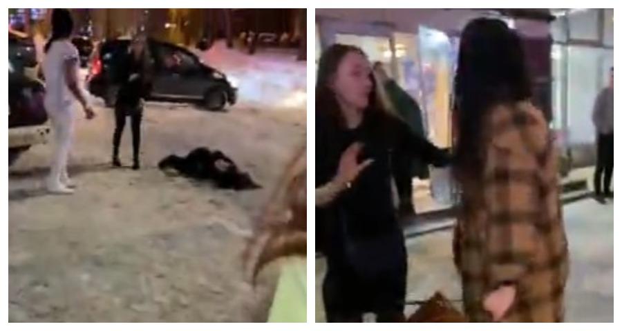 В сети появилось видео с дракой девушек в Мурманске 8 марта