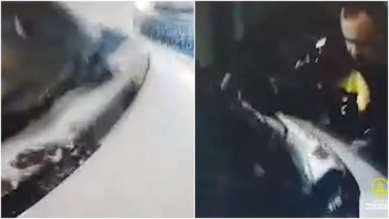 Водитель иномарки наехал на сотрудника ГИБДД в Санкт-Петербурге
